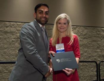Dr. Patel receiving the award